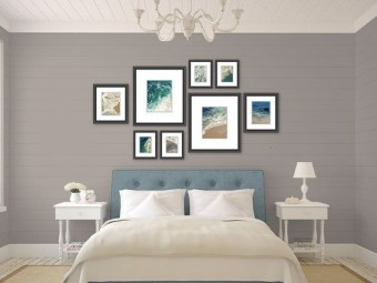 Simple And Memorable Photo Frame Decoration on Your Bedroom Wall 43