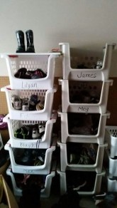 Simple and Cheap DIY Ideas to Organize Shoes That You Must Try 32