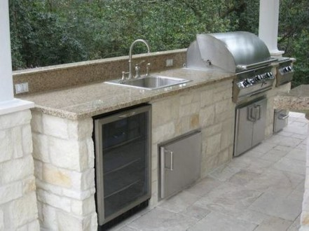 Amazing Outdoor Kitchen Bars to Finish This Summer 04