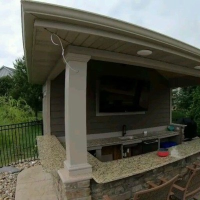 Amazing Outdoor Kitchen Bars to Finish This Summer 08