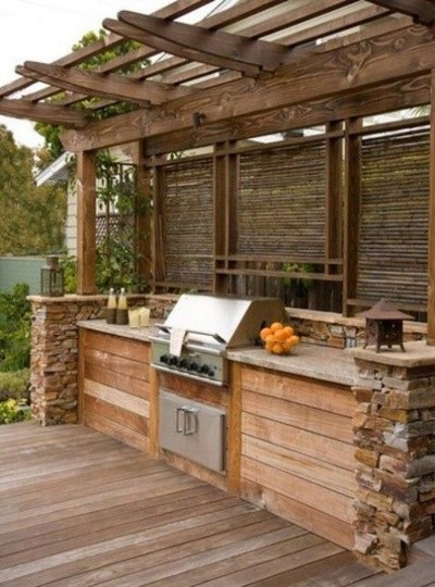 Amazing Outdoor Kitchen Bars to Finish This Summer 31