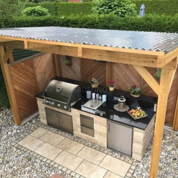 Amazing Outdoor Kitchen Bars to Finish This Summer 35