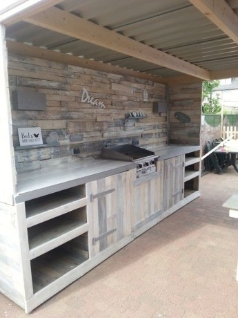 Amazing Outdoor Kitchen Bars to Finish This Summer 37
