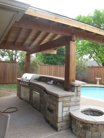 Amazing Outdoor Kitchen Bars to Finish This Summer 38