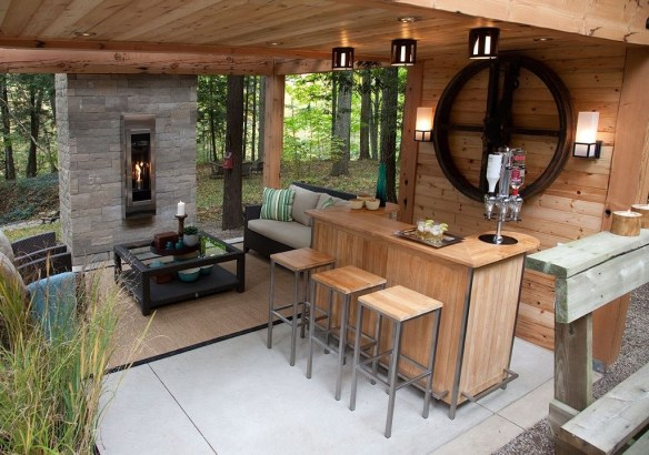 Amazing Outdoor Kitchen Bars to Finish This Summer 43