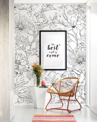 Best Wallpaper Decoration Designs to Enhance Your Family Room 30