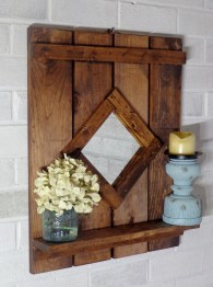 Cool Interior Design DIY Pallet to Beautify Wall Hangings of your Home 34
