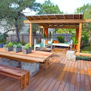 Easy DIY Wooden Deck Design For Backyard 05