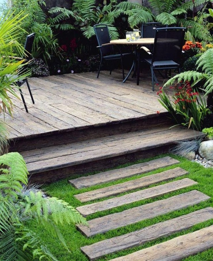 Easy DIY Wooden Deck Design For Backyard 13