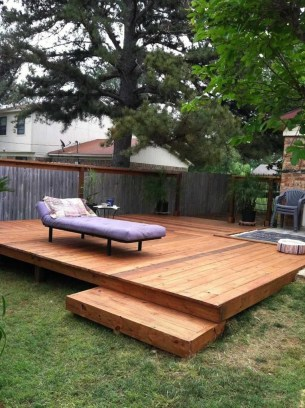 Easy DIY Wooden Deck Design For Backyard 16