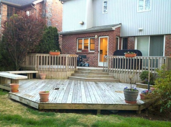 Easy DIY Wooden Deck Design For Backyard 18