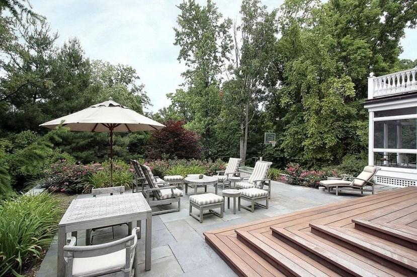 Easy DIY Wooden Deck Design For Backyard 19