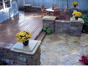 Easy DIY Wooden Deck Design For Backyard 21