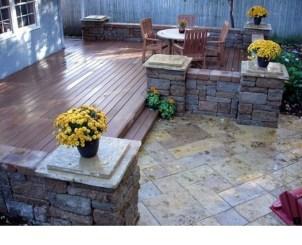 Easy DIY Wooden Deck Design For Backyard 21