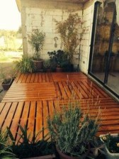 Easy DIY Wooden Deck Design For Backyard 31