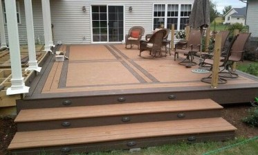 Easy DIY Wooden Deck Design For Backyard 34