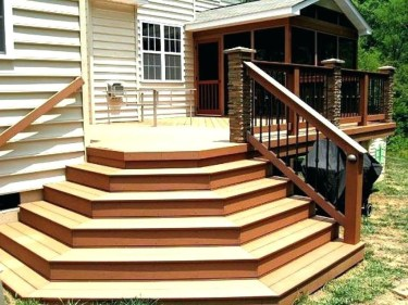 Easy DIY Wooden Deck Design For Backyard 36
