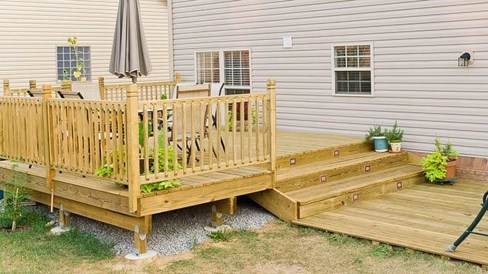Easy DIY Wooden Deck Design For Backyard 40