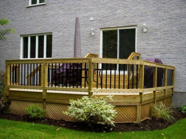 Easy DIY Wooden Deck Design For Backyard 42