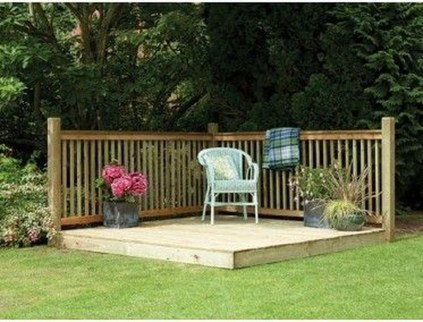 Easy DIY Wooden Deck Design For Backyard 46