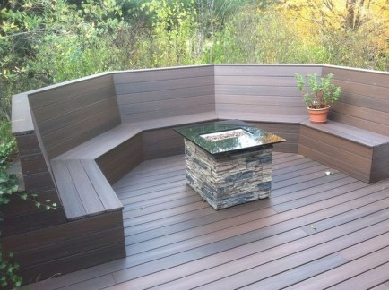 Easy DIY Wooden Deck Design For Backyard 48