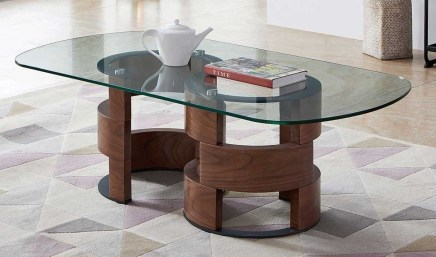 The Charm of Homely Contemporary Living rooms with Oval Coffee Table Decorations 08