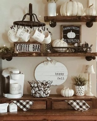 Best Coffee Bar Decorating Ideas for Your That Like a Coffee 26