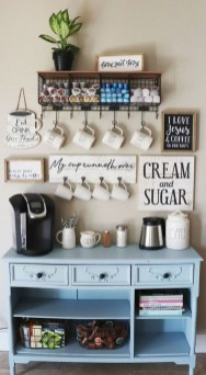 Best Coffee Bar Decorating Ideas for Your That Like a Coffee 31
