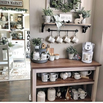 Best Coffee Bar Decorating Ideas for Your That Like a Coffee 34