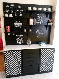 Best Coffee Bar Decorating Ideas for Your That Like a Coffee 41