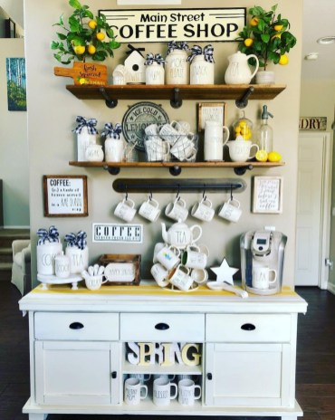 Best Coffee Bar Decorating Ideas for Your That Like a Coffee 50