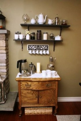 Best Coffee Bar Decorating Ideas for Your That Like a Coffee 67
