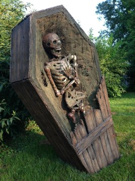 Creepy Halloween Coffin Decorations 07