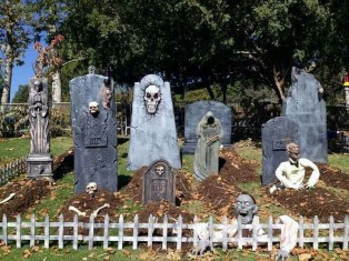 Creepy Halloween Coffin Decorations 22