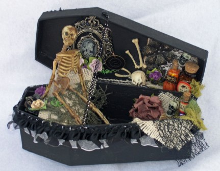 Creepy Halloween Coffin Decorations 31
