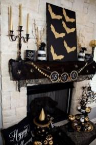 Elegant Halloween Mantel décor You Must Try In Halloween 2019 04