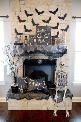 Elegant Halloween Mantel décor You Must Try In Halloween 2019 06