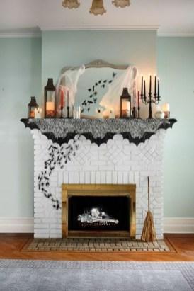 Elegant Halloween Mantel décor You Must Try In Halloween 2019 08