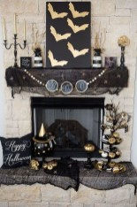 Elegant Halloween Mantel décor You Must Try In Halloween 2019 19