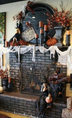 Elegant Halloween Mantel décor You Must Try In Halloween 2019 27