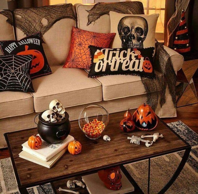 The Most Interesting Family Room Arrangement on This Halloween 23