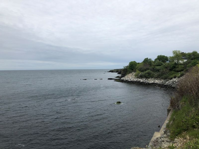 The Cliff Walk in Newport, Rhode Island.