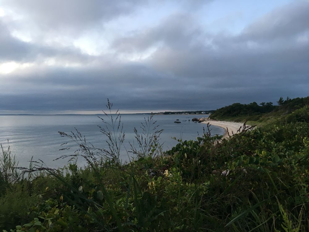 The ocean and beach in Woods Hole Falmouth.