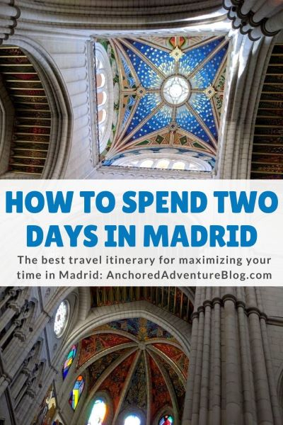 A graphic for asking readers to pin this Madrid travel guide to their Pinterest board.