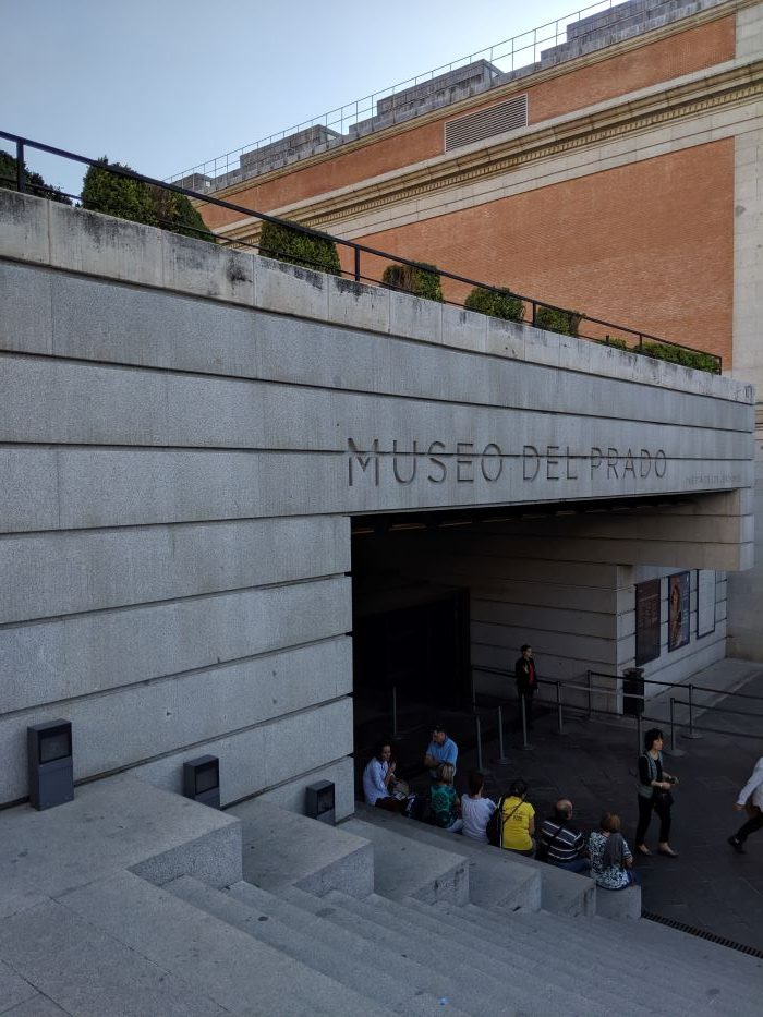The exterior of the Prado museum in Madrid.