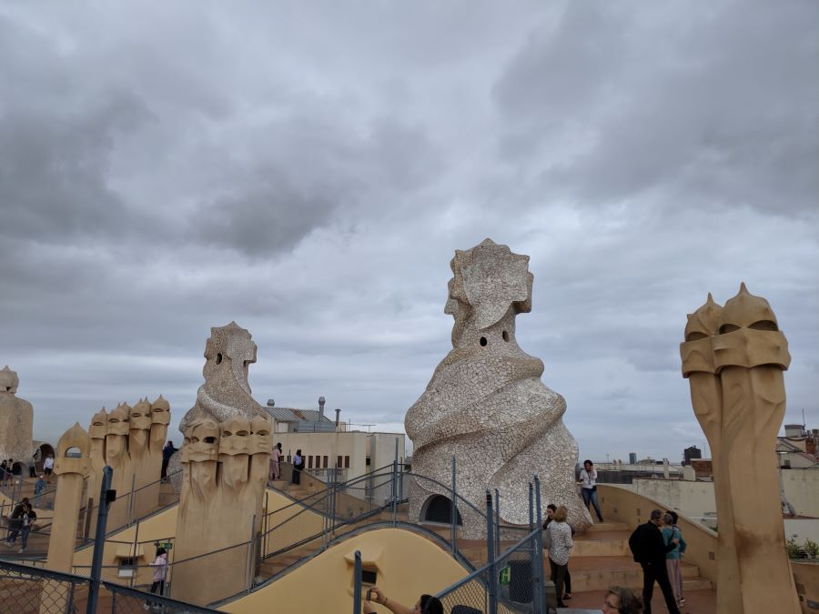 The rooftop of La Pedrera in Barcelona.