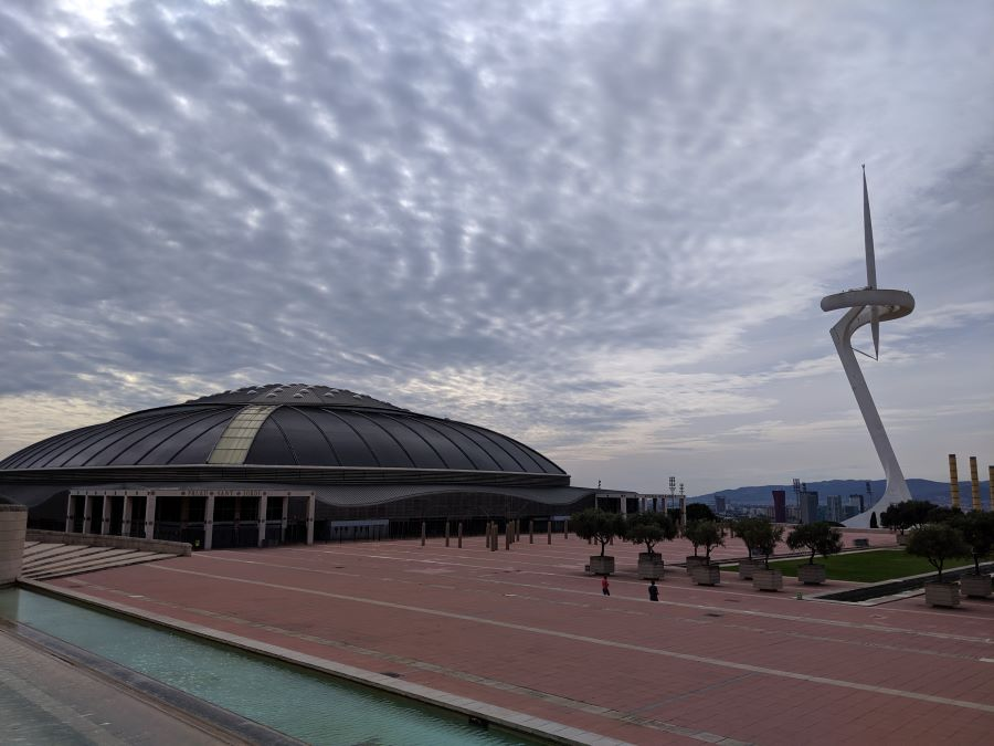 The Olympic torch and sports complex from the 1992 Olympic World Games in Barcelona Spain