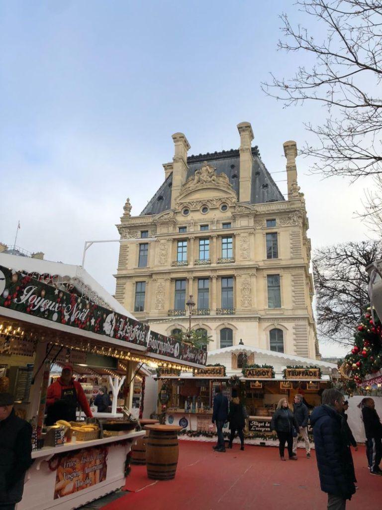 A christmas market in Paris.