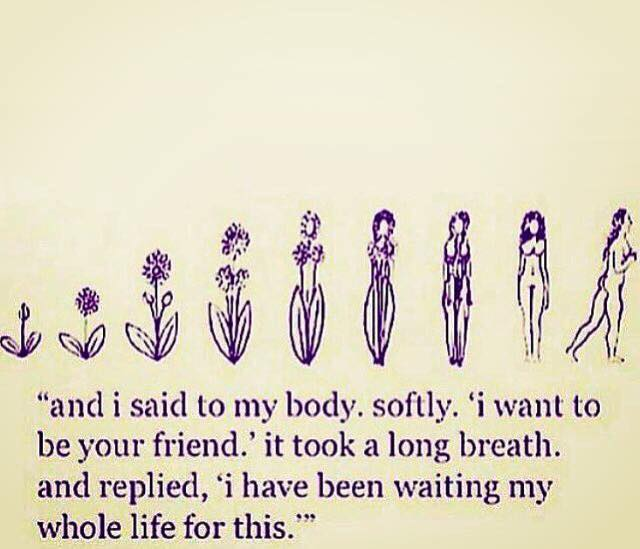 Apologize to your body — Maybe that's where healing begins