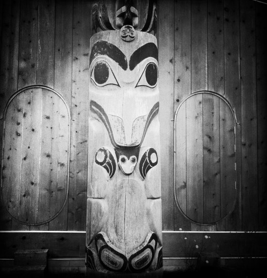 Outside the Haida Heritage Centre